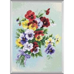Pansy Medley Deimantinės Mozaikos rinkinys iš RIOLIS Nr.: AM0016
