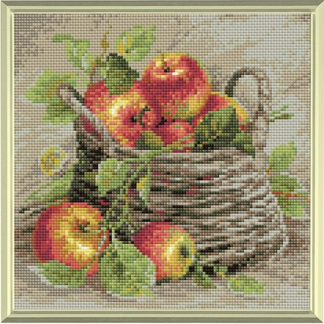Ripe Apples diamond mosaic kit by RIOLIS Ref. no.: AM0015