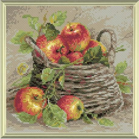 Ripe Apples diamond mosaic kit by RIOLIS Ref. no.: AM0015