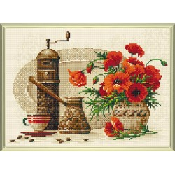 Coffee diamond mosaic kit by RIOLIS Ref. no.: AM0012