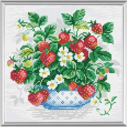 Basket of Strawberries diamond mosaic kit by RIOLIS Ref. no.: AM0008
