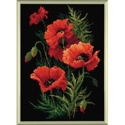 Poppies Deimantinės Mozaikos rinkinys iš RIOLIS Nr.: AM0007