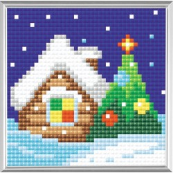 Christmas Eve diamond mosaic kit by RIOLIS Ref. no.: AM0004