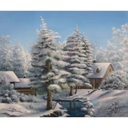 Deimantinis paveikslas Frosty Landscape AZ-1285