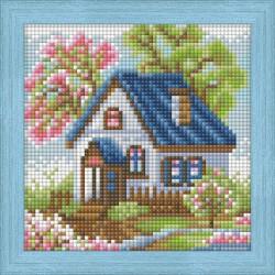 Diamond Painting Kit Diamond Painting Spring House AZ-1567 15_15cm