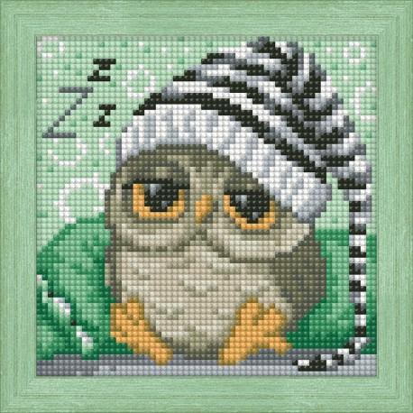Diamond Painting Kit Dreaming Owl AZ-1572 15_15cm