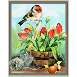 Deimantinis paveikslas Helper Goldfinch AZ-1476 24_30cm