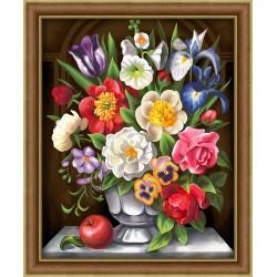 Deimantinis paveikslas Flowers AZ-1604 40_50cm