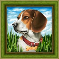 Deimantinis paveikslas Beagle AZ-1608 25_25cm
