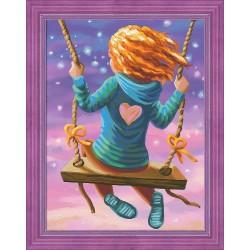 Deimantinis paveikslas Flying Girl AZ-1613 40_30cm