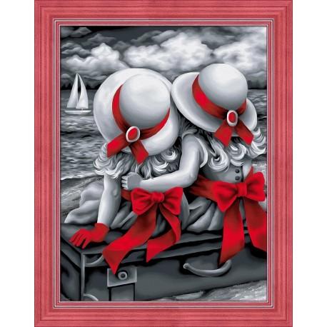 Diamond Painting Kit Sisters AZ-1614 40_30cm