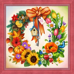 Deimantinis paveikslas Wreath AZ-1617 40_40cm