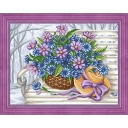 Diamond Painting Kit Flowers AZ-1618 40_30cm