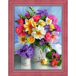 Deimantinis paveikslas Bright Flowers AZ-1623 40_30cm