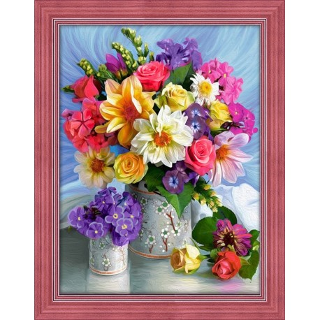 Diamond Painting Kit Bright Flowers AZ-1623 40_30cm