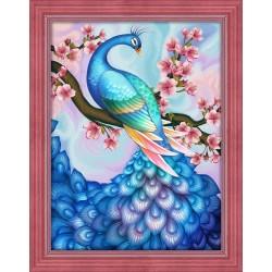 Deimantinis paveikslas Sakura & Peacock AZ-1624 40_30cm
