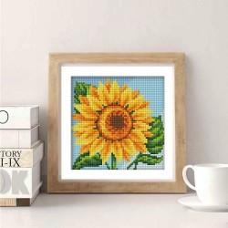 Deimantinis paveikslas Sunflower AZ-1635 15_15cm