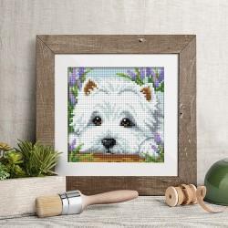 Deimantinis paveikslas Dog AZ-1639 15_15cm
