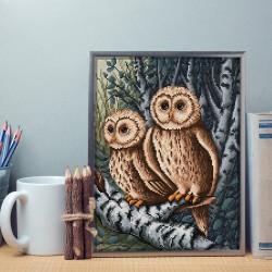 Deimantinis paveikslas Owls AZ-1644 30_40cm