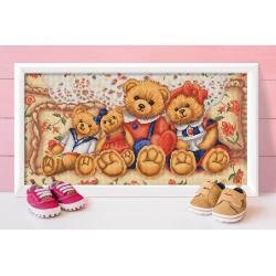 Deimantinis paveikslas Teddy Bears AZ-1645 30_60cm