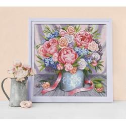 Deimantinis paveikslas Pink Flowers AZ-1655 40_40cm