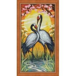 Deimantinis paveikslas Crane Couple AZ-1664 30x60cm