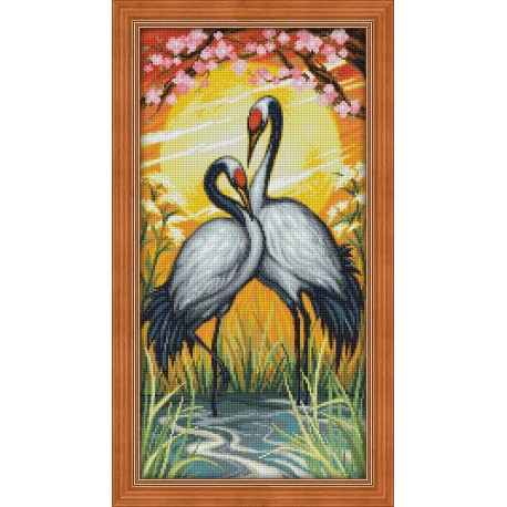 Diamond Painting Kit Crane Couple AZ-1664 30x60cm