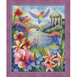 Deimantinis paveikslas Garden in Bloom AZ-1666 40x50cm