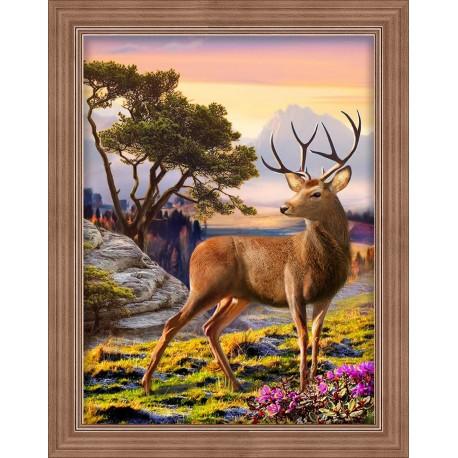 Diamond Painting Kit Noble Deer AZ-1692 30x40cm