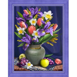 Deimantinis paveikslas Daffodils and Irises AZ-1693 30x40cm