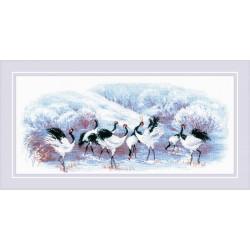 Japanese Cranes siuvinėjimo rinkinys iš RIOLIS Nr.: 1806