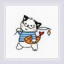 The Cat Crew. Fisherman siuvinėjimo rinkinys iš RIOLIS Nr.: 1808