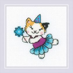 The Cat Crew. Ballerina siuvinėjimo rinkinys iš RIOLIS Nr.: 1809