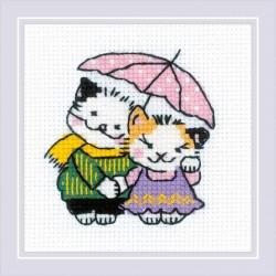 The Cat Crew. Together in the Rain siuvinėjimo rinkinys iš RIOLIS Nr.: 1810