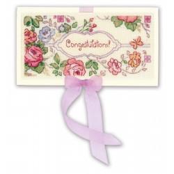 Card Congratulations! siuvinėjimo rinkinys iš RIOLIS Nr.: 1783AC