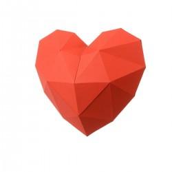 """Popierinės skulptūros rinkinys """"Širdis"""" PP-2HRT-RED"""