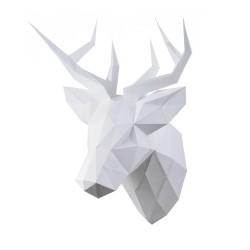 """Popierinės skulptūros rinkinys """"Elnias 3"""" PP-1OLP-WHT"""