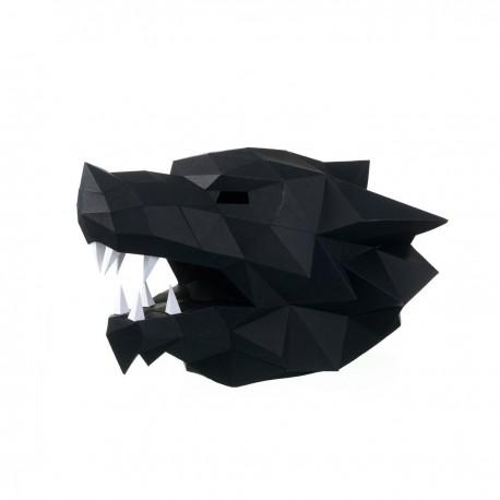 Papercraft Kit Wolf Mask PP-3WOL-BLA