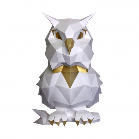 Papercraft Kit Owl White PP-1SOV-2WG