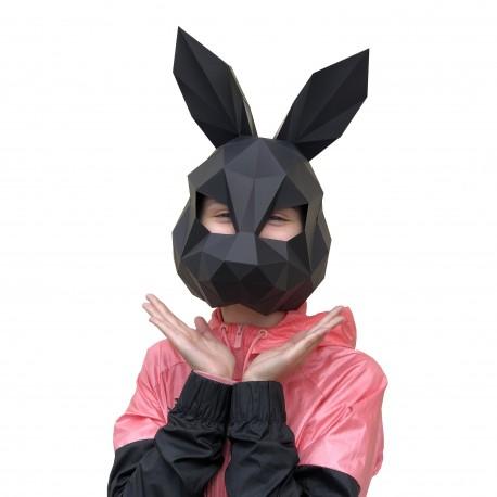 Papercraft Kit Hare Mask Black PP-3ZAY-BLA