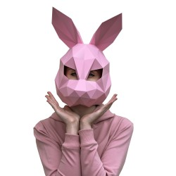 Papercraft Kit Hare Mask Pink PP-3ZAY-PIN