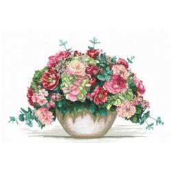 Bouquet With Hydrangea SANB-16 - Cross Stitch Kit by Andriana