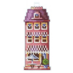 Pink House SAND-17 - Cross Stitch Kit by Andriana