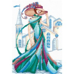 Emerald Lace SANR-12 - Cross Stitch Kit by Andriana