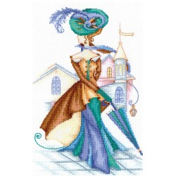 Golden Cashmere SANR-14 - Cross Stitch Kit by Andriana