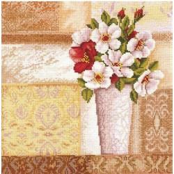 Vintage Bouquet SANV-24 - Cross Stitch Kit by Andriana