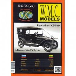 """Popierinis Rusijos lengvojo automobilio """"Russo Balt C24/40"""" modelis"""