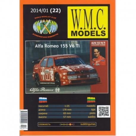"""Popierinis lengvojo automobilio """"Alfa Romeo 155 V6 Ti"""" modelis"""