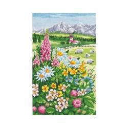 Alpine Meadow SANA-04 - Cross Stitch Kit by Andriana