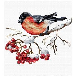 Cross Stitch Kit On the Snowing Branch SM-056